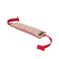Jute Dog Bite Tug with Inside Seam and Two T-Shape Handles