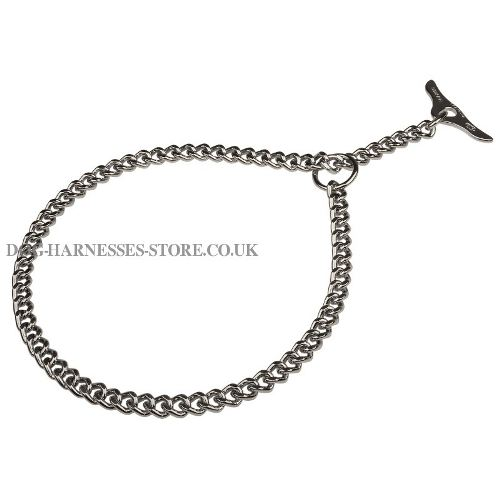 Chain Collar with Toggle for Short-Haired Canine, Herm Sprenger