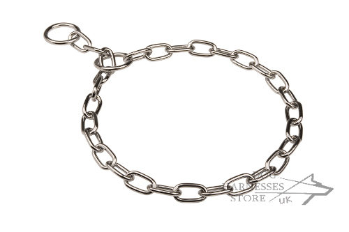 Fur Saver Choke Chain Chrome Plated for Long-Haired Dogs