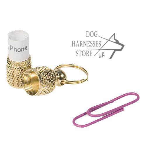 Bestseller! ID Tag of Brass for Any Dog Collar or a Harness