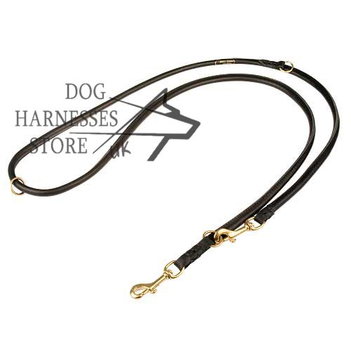 Round Leather Dog Leash, Diameter 1/5 Inch Wide, UK