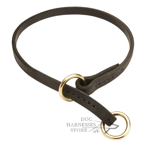 Leather Choke Collar for Dog Obedience Training & Safe Walking