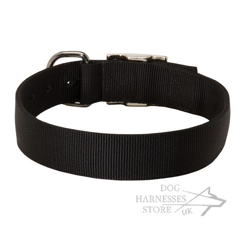 Nylon Dog Collar Double-Ply, Wide and Strong, Classic Design