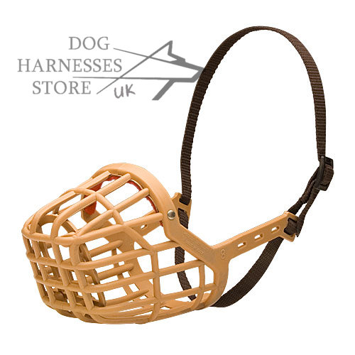 Plastic Dog Muzzle for Walks, Drinking. Lightweight