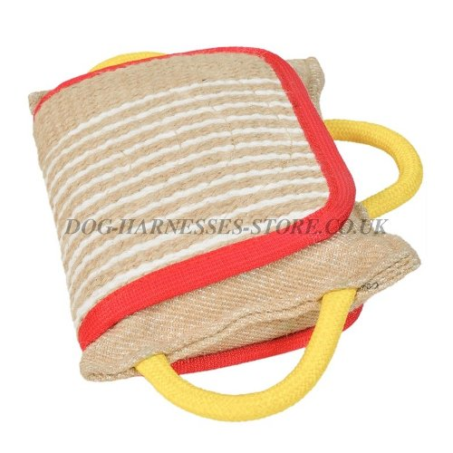 Bite Pad for Dog Training, Pillow Reinforced with Jute Cover