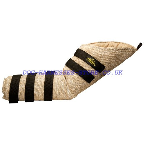 Hidden Dog Bite Sleeve of Jute with Velcro for Training Suit
