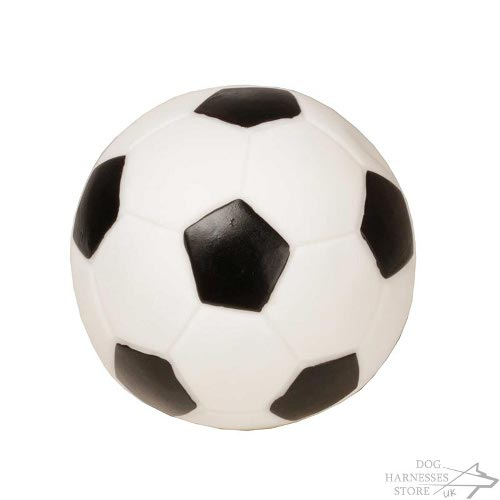 Soccer Dog Ball UK of Safe Rubber, Sounds When Squeezed