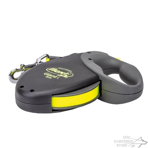 Flexi Dog Lead with Neon Tape for Large Dogs UK