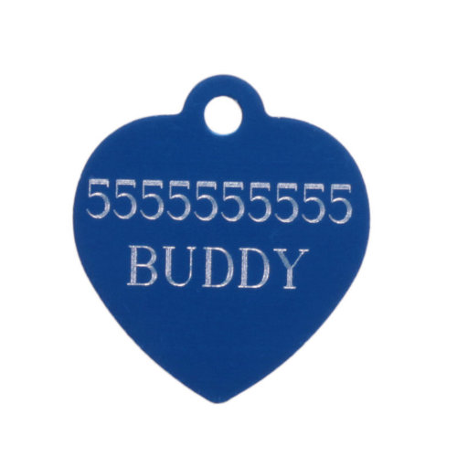 ID Dog Tag Heart-Shaped with Customized Personal Engraving