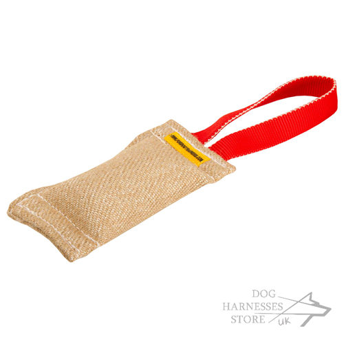 Short Jute Bite Tug with Loop- Handle