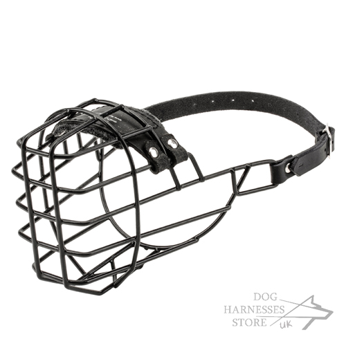 Basket Dog Muzzle Covered by Black Rubber, UK