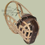 Police Leather basket dog muzzle, Top Quality!
