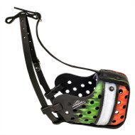 """Italiano Tricolore"" Hand Painted Leather Dog Muzzle Italy Style"
