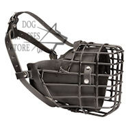Best Padded Wire Dog Muzzle Covered with Black Rubber