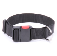 Adjustable Dog Collar of Nylon with Quick-Release Plastic Buckle