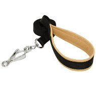 Strong Dog Lead with HS Snap Hook and Padded Leather Handle