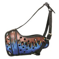 Hand Painted Dog Muzzle of Pure Leather