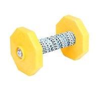 Schutzhund IPO Dumbbell with Yellow Weight Plates, 650 g
