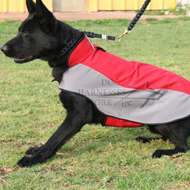 Warm Dog Coat of Waterproof Nylon for German Shepherd