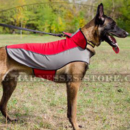 Waterproof Dog Coat of Nylon for Belgian Malinois Warming